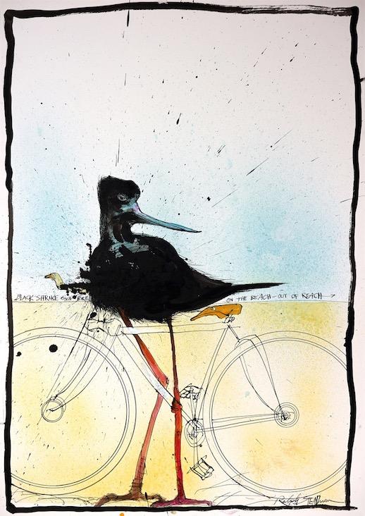 NEXTINCTIONS Black Shrike on a Bike 16714